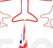 Red Arrows 50 Sticker