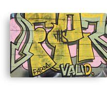Newtown Graffiti #2 Canvas Print