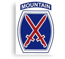 10th Mountain Division Canvas Print