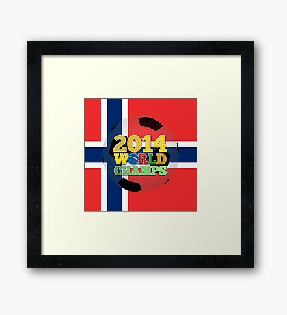 2014 World Champs Ball - Norway Framed Print