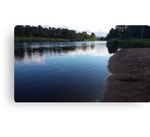 Reflections in the river Canvas Print