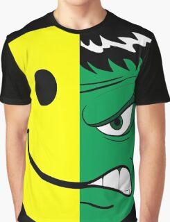 Happy Hulk Face Graphic T-Shirt