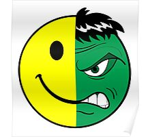 Happy Hulk Face Poster