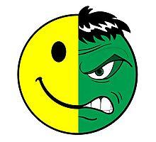 Happy Hulk Face Photographic Print