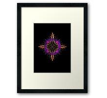 Fractal Compass Framed Print
