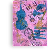 Pink Serenade Faux Chine Colle Canvas Print
