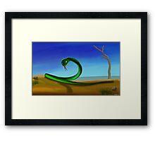 Desert Snake Framed Print