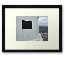 Warning. Framed Print