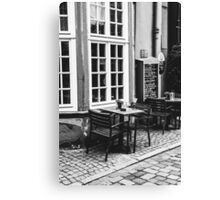 Black and White Cafe Canvas Print