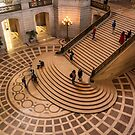 Grand Staircase Detail, San Francisco City Hall by James Watkins