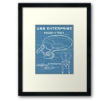 U.S.S. Enterprise Blueprints Framed Print