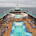 Pool Deck Majesty of the Seas  by John  Kapusta