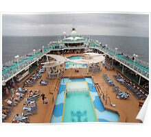 Pool Deck Majesty of the Seas  Poster