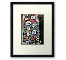 very colourful graffiti icons Framed Print