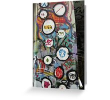 very colourful graffiti icons Greeting Card