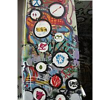 very colourful graffiti icons Photographic Print