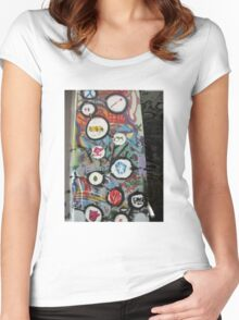 very colourful graffiti icons Women's Fitted Scoop T-Shirt