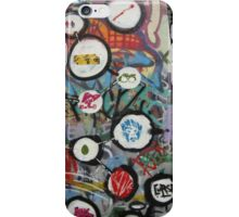 very colourful graffiti icons iPhone Case/Skin