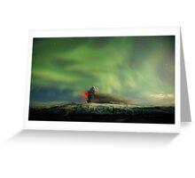 Northern Lights Eruption Greeting Card