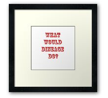Dineage transparent Framed Print