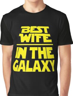 Best Wife in the Galaxy - Title Crawl Graphic T-Shirt