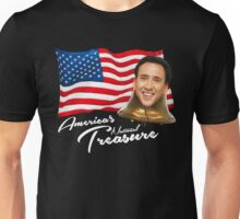 America's National Treasure - White Text Unisex T-Shirt