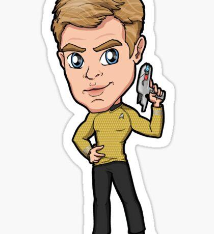 Star Trek Reboot - Captain James T. Kirk Chris Pine Sticker