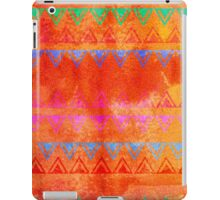 Abstract Bunting Watercolor Painting in Hot Pink, Orange, Mint & Blue iPad Case/Skin