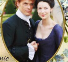 Jamie & Claire Fraser frame Sticker