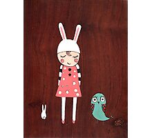 Mila and Friend Photographic Print