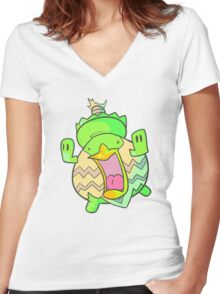 Ludicololol Women's Fitted V-Neck T-Shirt