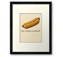 Ceci n'est pas un sandwich. Framed Print