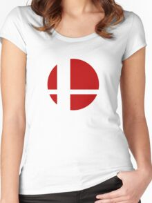 Super Smash Bros Logo Women's Fitted Scoop T-Shirt