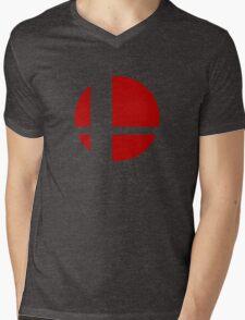 Super Smash Bros Logo Mens V-Neck T-Shirt