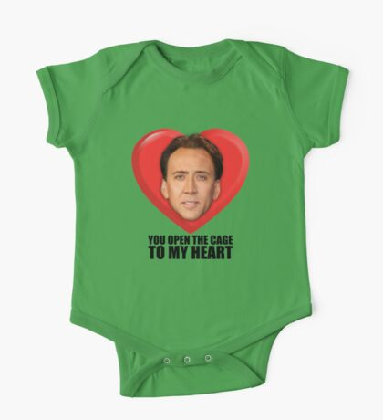 Nicolas Cage - You Open the Cage to My Heart One Piece - Short Sleeve