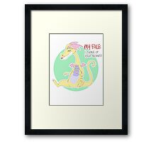 my face is none of your business Framed Print