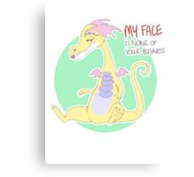 my face is none of your business Canvas Print