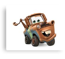 Tow Mater Cars Canvas Print
