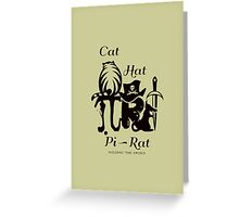 Pi - Rat - Riddle Greeting Card