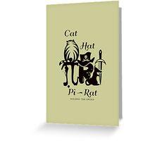 Pi - Rat - Riddle Greeting Card