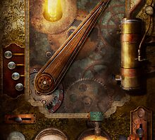 Steampunk - Victorian fuse box by Mike  Savad