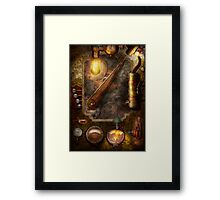 Steampunk - Victorian fuse box Framed Print