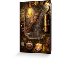 Steampunk - Victorian fuse box Greeting Card