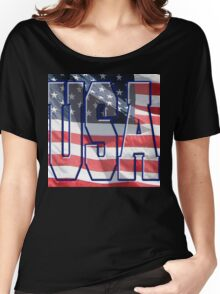 USA & American Flag Women's Relaxed Fit T-Shirt