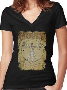 The Ash-Truvian Man Women's Fitted V-Neck T-Shirt