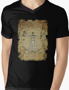 The Ash-Truvian Man Mens V-Neck T-Shirt