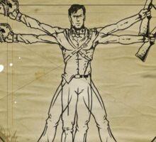 The Ash-Truvian Man Sticker