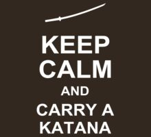 KEEP CALM AND CARRY A KATANA - Walking Dead T-Shirt by CaffeineSpark