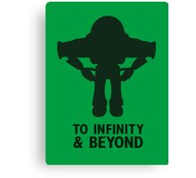 Buzz Lightyear: To Infinity & Beyond - Black Canvas Print