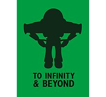 Buzz Lightyear: To Infinity & Beyond - Black Photographic Print